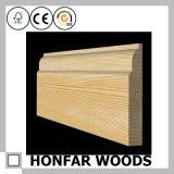 bordage européen de type en bois solide de 21mmx168mm