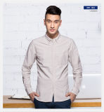Homens puros da camisa de Oxford da luva longa ocasional quente do algodão novos