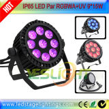 IP65 LED flaches NENNWERT Licht 9PCS*15W RGBWA+UV LED