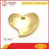 Pendente su ordinazione di marchio del metallo di figura del cuore per il Hangtag