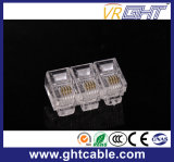 Plugue Gold-Plated do cristal Head/Rj11 Connectors/6p4c da rede