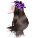 브라질 머리 직물은 색깔 4 밝은 밤색 Non-Remy 사람의 모발 연장을 묶는다