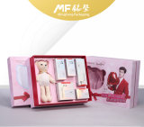 Preciosa impermeable rosa de cartón Conjunto de caja de cosméticos