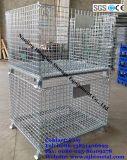 창고를 위한 Foldable와 쌓을수 있는 철망사 저장 그릇