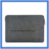 70% 만족한 모직 펠트 휴대용 퍼스널 컴퓨터 서류 가방 부대, 지퍼를 가진 주문 휴대용 연약한 휴대용 퍼스널 컴퓨터 부대의 새로운 형식 Eco-Friendly 물자