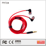 De mobiele MP3 Gebruik Getelegrafeerde Oortelefoon van de Controle van de Lijn van de Microfoon van de Hoofdtelefoon