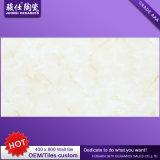 Baldosa cerámica continuada fábrica de la mirada de mármol amarillenta del azulejo 3D de la pared y de suelo de 400*800 China