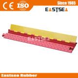 Orange u. gelber Kanal-Kabel-Stoß des PU-Plastik2