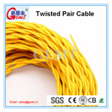 Dois fios Twisted-Pair isolados PVC de Rvs do cabo flexível do núcleo