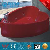 Banheira barata da massagem do canto do preço com vidro (BT-A1022)