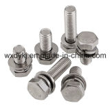 Hexagon-Kopfschrauben-und Federscheibe-Montage-Edelstahl-Schrauben-Lieferant von China ASME/ANSI B 18.13