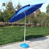 2.4m 옥외 두 배 차양 바닷가 어업 우산 안뜰 양산