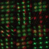 Luz laser del regalo de la Navidad en departamento de la TV