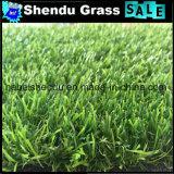 Grama artificial do gramado da alta qualidade 25mm do revestimento protetor do plutônio