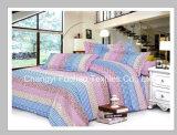 Het kleurrijke Vastgestelde die Beddegoed van het Blad van het Bed van Microfiber van het Bamboe van het Patroon van de Bloem Goedkope voor Huis wordt geplaatst