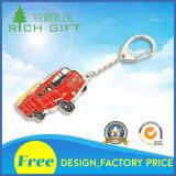 Camion rosso Keychain in materiale del metallo per il ricordo