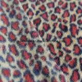 Ouatine polaire d'impression de léopard avec le balai de 2 côtés et 1 Antipilling latéral