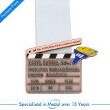 Qualität gedruckte Fußball-Medaille mit Abzuglinie
