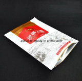 Customzied 인쇄는 3개의 층이 지퍼를 가진 음식 포장을%s 강직한 비닐 봉투를 위로 서 있는 비닐 봉투를 박판으로 만든 지퍼 주머니를 위로 서 있다