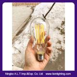 Bulbo do filamento do diodo emissor de luz de E27 St64 com potência 2W, 4W, 6W, 8W