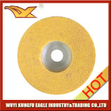 고품질 비 길쌈된 닦는 디스크 (4 인치 120#, 노란 색깔)