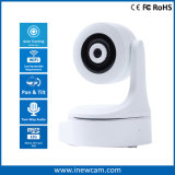 Wireless Home Security WiFi IP PTZ Camera com rastreamento automático