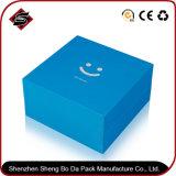 Rectángulo de empaquetado de papel modificado para requisitos particulares impresión material reciclado del regalo del almacenaje
