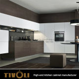 식품 저장실 디자인 Tivo-0014h를 가진 현대 조립식 주문 백색 부엌 찬장 찬장 단위