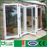 Doppelverglasung-Aluminiumprofil-Falz-Tür mit gebildet durch Factory