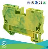 Connecteur de mise à terre de la terre de terminal à terre des TB Jut3-6PE de ressort