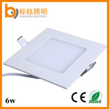6W 85-265V ultradünne Panel-Lampe vertiefte Downlight Deckenleuchte des Quadrat-LED