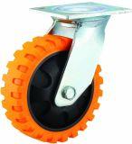 4/5/6/5インチ頑丈な産業PUの足車はTyerの静脈の旋回装置の足車を動かす