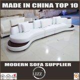 Sofá casero del cuero blanco de los muebles sin los apoyabrazos