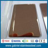 feuille épaisse d'acier inoxydable de miroir de la couleur 304L de 2mm
