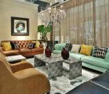 Jogos do sofá da mobília da casa de campo da cor verde