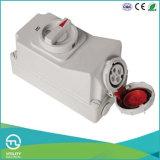Tomada fêmea multi-corrente IP67 com interruptor e bloqueio mecânico