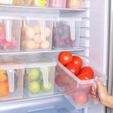 Unabhängige Küche-Kühlraum-Nahrungsmittelc$frisch-haltener Kasten mit Kappen-Griff (Transparent)