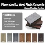 Decking recouvert blanc de terrasse du plancher WPC du prix usine WPC