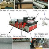 Rollo de papel higiénico pequeño y lleno automático que hace la línea de producción de la máquina