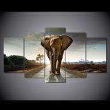 [هد] طبع إفريقيا فيل منظر طبيعيّ مجموعة صورة زيتيّة غرفة زخرفة طبق ملصقة صورة نوع خيش [مك-127]