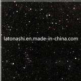Natural Polished Stone Black Galaxy Granite per Tile, Slab, Tombstone