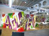 Papel pintado de encargo movible de la impresión del nuevo diseño para decorativo casero