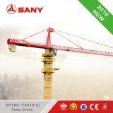 Segurança elevada do guindaste de torre de Harga do guindaste de torre de Sany Syt80 (T6510-6) capacidade de levantamento do guindaste de torre de 6 toneladas