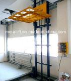 縦の柵の電気貨物上昇のプラットホーム