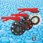 Клапан-бабочка UPVC для стандарта ANSI питьевой воды JIS DIN