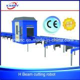 Haltbarer automatischer h-Träger U-Stahl Stapel-Kanal CNC-Plasma-Ausschnitt-fertig werdene Maschine