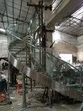 Escaliers en verre incurvés modernes/modèle hélicoïdal d'escalier/pêche à la traîne en verre incurvée