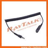 De Snel afkoppelbare Kabel van Dp3441 XLR met PTT of zonder PTT
