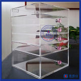 China fabricante de la venta caliente caja de maquillaje acrílico transpant
