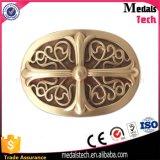 Дешевым изготовленный на заказ покрынная золотом пряжка пояса металла